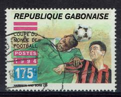 Gabon, 175f, Coupe Du Monde De Football Aux Etats-Unis, 1994, Obl, TB Issu D'un Bloc De 4 - Gabon