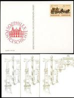 DDR P93-3a-85 C3a 3 Postkarten Zudruck Sozphilex FARBVARIANTEN 1985 - Privatpostkarten - Ungebraucht