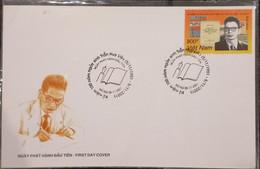 FDC Vietnam Viet Nam Cover 2001 : Birth Bicentenary Of Tran Huy Lieu (Ms872) - Vietnam