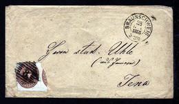 3 Gr. Wappen (20) Auf Brief Ab Braunschweig Nach Jena - Brunswick