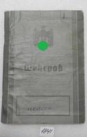 WW2 German Military Passport ID 1938 Wehrpass With Registartion Card - 1939-45