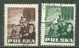 POLAND Oblitéré 821-822 Course Motocycliste à Zakopane - Used Stamps