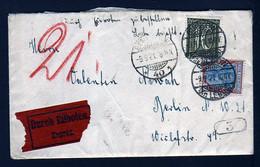 2,10 Mk. Auf Eilbotenbrief Ab Buckow Nach Berlin - Dort 1921 Mit Rohrpost Befördert - Storia Postale