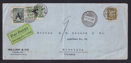 1927 - 30 Pf. Auf Flugpostbrief Mit Scadta-Frankatur Ab Hamburg Nach Kolumbien - Covers & Documents