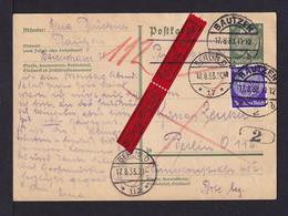 1933 - 6 Pf. Ganzsache Mit 40 Pf. Zufrankiert Per Eilboten Ab Bautzen Nach Berlin - Covers & Documents