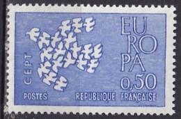FRANCE - 50 C. Europa 1961 Bleu Très Pâle TTB - Abarten: 1960-69 Ungebraucht
