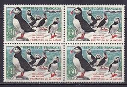 FRANCE - Macareux Avec Houppe Et Pattes Noires En Bloc De 4 TTB - Varieteiten: 1960-69 Postfris