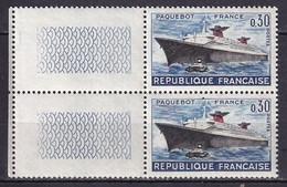 FRANCE - Paquebot France Avec Cheminées Noires Tenant à Normal TTB - Varieteiten: 1960-69 Postfris