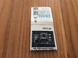 """Pochette D'allumettes REGIE FRANCAISE """"CINZANO BLANC - AU BON MUSCADET - PARIS (75) / Pam Pam"""" - Matchboxes"""