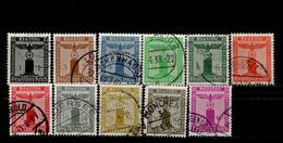 Deutsches Reich 144 - 154 Dienstmarken Gestempelt Used (1) - Service