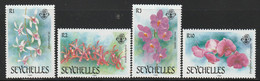 SEYCHELLES - N°673/6 ** (1988) Orchidées - Seychelles (1976-...)