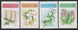 SEYCHELLES - N°705/8 ** (1990) Orchidées - Seychelles (1976-...)