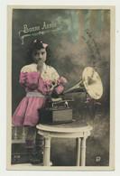 Carte Fantaisie - Gramophone - Phonographe - Bébé Vous Envoie Un Baiser... - Andere