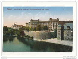 CASSEL PARTIE AU DER FUIDA MIT REGIERUNGSGEBAUDE UND THEATER CPA BON ETAT - Kassel