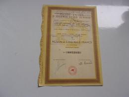 SOCONY VACUUM D'ALGERIE ET DE TUNISIE (mobil Oil) - Non Classificati