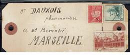Fr - Etiquette De Colis Affranchissement à 21 Fr Pour Marseille - - WW II