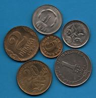 LOT COINS 6 MONNAIES - Alla Rinfusa - Monete