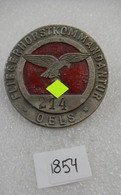 "WW2 German Luftwaffe Airbase Patrol Badge With Personal Number: "" Fliegerhorst Kommandatur""  - Replica - 1939-45"