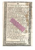 D 165. JOANNES SMOLDERS Meldt Het Overlijden Van Zijn Echtg. SUSANNA SCHOLPS Op 18 Junii 1818 (66j.) - Prentje :S.Claire - Devotion Images