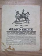 Auguste Lenoir Crime Feminicide Enfanticide 1852 Pau Peine De Mort Justice Assassinat - Documents Historiques
