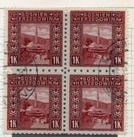 37CRT915 - BOSNIA ERZEGOVINA 1906 , 1 Kr N. 42 : Quartina Usata (CRT) - Bosnië En Herzegovina