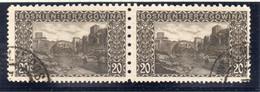 37CRT916 - BOSNIA ERZEGOVINA 1906 , 20 Heller N. 35 : Coppia Usata (CRT) - Bosnië En Herzegovina