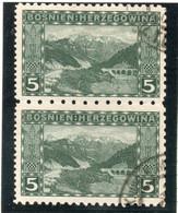 37CRT914 - BOSNIA ERZEGOVINA 1906 , 5 Heller N. 32 Coppia Usata (CRT) - Bosnië En Herzegovina