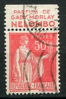 "21666 FRANCE N°283°(188) 50c. Type Paix : ""Nelombo"" Parfum De Gaby Morlay  1932  B/TB - Publicidad"