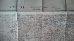 Aiguilles - St Véran (Hautes Alpes 05)  - Aiguilles Carte Géographique Militaire Au 50 000e -  67x56cms - Italie Bobbio - Carte Geographique