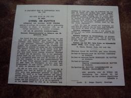 Doodsprentje/Bidprentje CYRIEL DE RUYTTER (A.ZIELENS) Leffinge 1887 - 1970 Slype Gew.Gemeenteraadslid En Schepen Slype - Religione & Esoterismo
