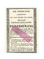 D 323. CAROLUS ALEXANDER DE LUESEMANS - +HASSELT 1830 (45j.) - Devotion Images