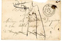 SEINE PARIS ENV 1875 TAXEE ET DETAXEE PARIS LES BATIGNOLLES T17 + VERSO SUIVIE VOIR SCAN - 1849-1876: Classic Period