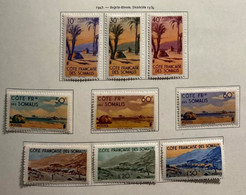 AFR130 Côtes Françaises Des Somalies N°264 à 282 Neuf* - Unused Stamps