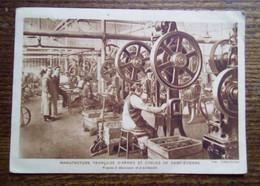 Carte Postale Ancienne - Manufacture D'Armes Et Cycles De St-Etienne - Presse à Découper- Circulée 1931 - Saint Etienne