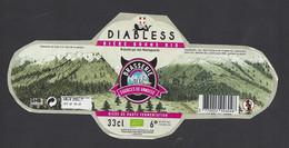 étiquettes De Bière Brune Bio  -  Diablesse    -  Brasserie Des Sources Vanoisen à Villarondin Bourget  (73) - Bière