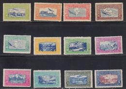 Nicaragua 1937  Poste Aerienne Yvert 173 /184 ** Neufs Sans Charniere - Nicaragua
