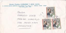 PERU. ESTUDIO JURIDICO CURRARINO Y ASOC. ENVELOPPE. CIRCULEE LIMA A BUENOS AIRES, ARGENTINE CIRCA 1990's.- LILHU - Peru