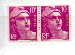 FRANCE N° 811 10F VIOLET TYPE MARIANNE DE GANDON SANS F APRES  LE 10 TENANT A NORMAL NEUF SANS CHARNIERE - Curiosa: 1945-49 Postfris