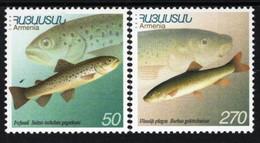 Armenia - 2000 - Fauna Of Armenia - Fish - Mint Stamp Set - Armenia