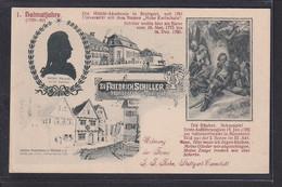 B45 /   Friedrich Schiller Heimatjahre M. Akademie Stuttgart / Firma Kohn Cannstatt - Stuttgart