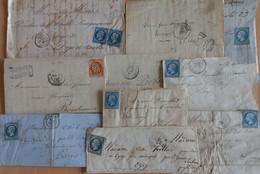 FRANCE. Lot N° 79.  10 Lettres Classiques. Saugues (x2), Limoges, St Omer, Montélimar, Clermont FD, Craponne, Etc... - 1849-1876: Classic Period