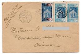 COTE D'IVOIRE - LETTRE AVEC CACHET AGBOVILLE 24-5-1935  ET TIMBRES YT107 Et 82 - Storia Postale