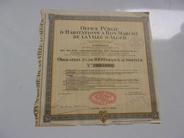 OFFICE PUBLIC D'HABITATION A BON MARCHE DE LA VILLE D'ALGER (1930) ALGERIE - Non Classificati