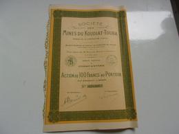 MINES DU KOUDIAT TOUBA (constantine , Algérie) - Non Classificati