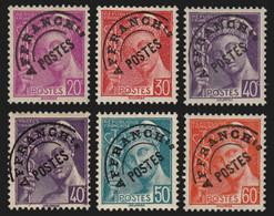 Préoblitérés N°78/83, Mercure Série Complète, Neufs ** Sans Charnière COTE 60€ - 1893-1947