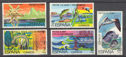Spain. 1978. Naturaleza Ed 2469-73 (**) - 1971-80 Unused Stamps