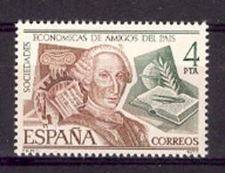 Spain 1977 - Amigos Del Pais Ed 2402 (**) - 1971-80 Unused Stamps