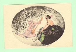 K1073 - Illustration Signée SOLANGES - Femme, Frau, Lady Avec Pierrot - Other Illustrators