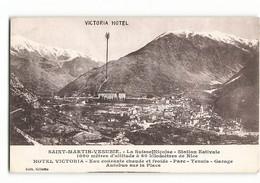 Carte Publicitaire HOTEL VICTORIA TENNIS LA SUISSE NICOISE SAINT MARTIN VESUBIE 232 ND  N06 N279 - Saint-Martin-Vésubie