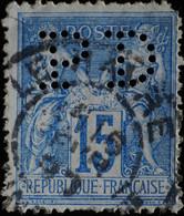 -Sage N°90. Type II  Ob  ( CAD ) .LE HAVRE ( Perforé P D ) - 1876-1898 Sage (Tipo II)